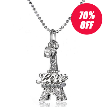 Eiffel Tower Clavicle Necklace - 99 Thrift $hop