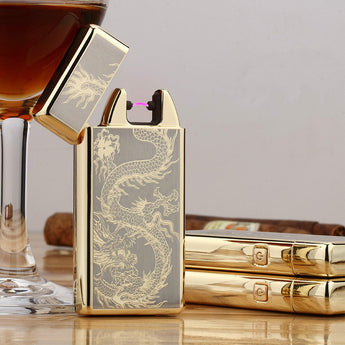 Usb Rechargeable Electric Arc Lighters Personalized Cross Pulse Slim Lighter - 99 Thrift $hop