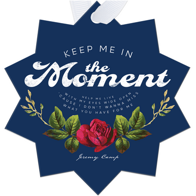 Keep Me In The Moment - Blue Metal Ornaments
