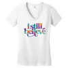 I Still Believe - Swirl - Womans V-neck
