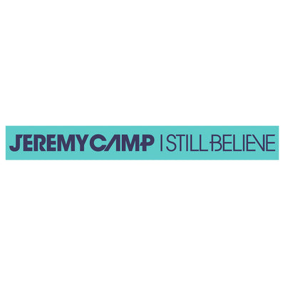 I Still Believe Wristband - Teal/Blue