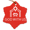 God With Us Nativity Porcelain Ornaments