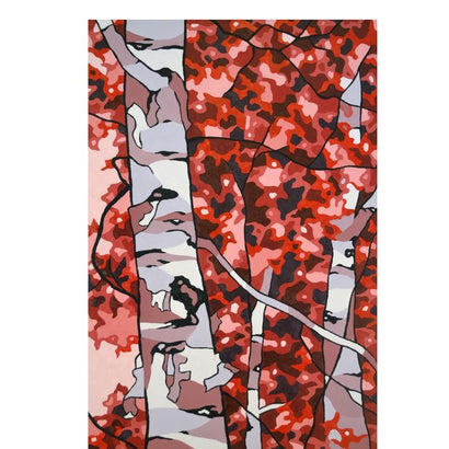 Red Birches I