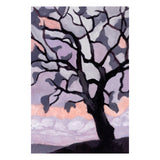 Purple Tree Silhouette