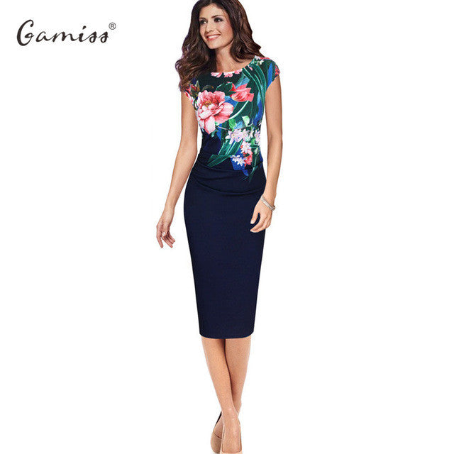 Kenancy S-5XL Elegant Women Plus size Dress Summer Sleeveless ...