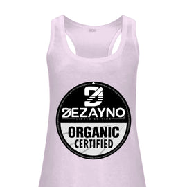 Dezayno Certified Organic Logo Racerback Tank Top for Women