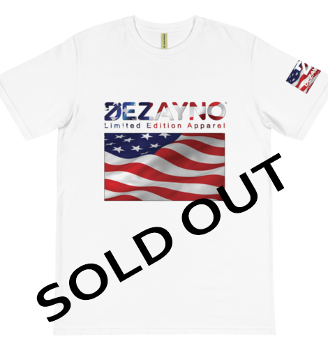 Dezayno 2019 Patriot Limited Edition T-Shirt featuring the American Flag