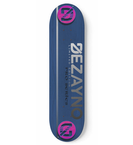 Dezayno  Woodgrain PRO MODEL Skateboard Deck Blue