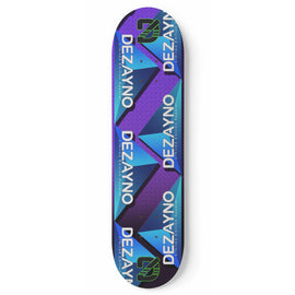 Dezayno PRO MODEL Skateboard Deck - Blue Triforce