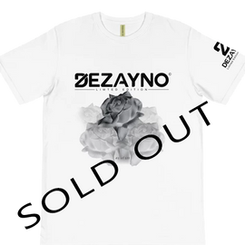 100% Organic Dezayno Rose Limited Edition T-Shirt - White