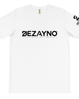 Limited Edition 100% Organic Cotton Dezayno Classic Logo Tee in White
