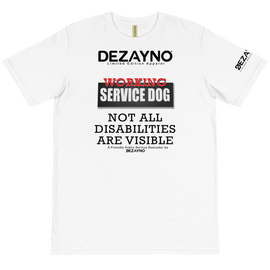Dezayno Service Dog T-Shirt made on 100% Certified Organic Cotton