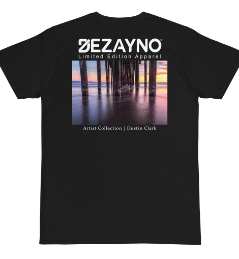 Dezayno Artist Collection: DUSTIN CLARK The Pier Limited Edition Organic T-Shirt