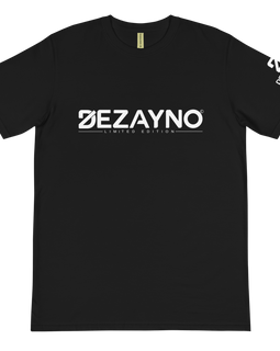 Limited Edition 100% Organic Cotton Dezayno Classic Logo Tee in Black