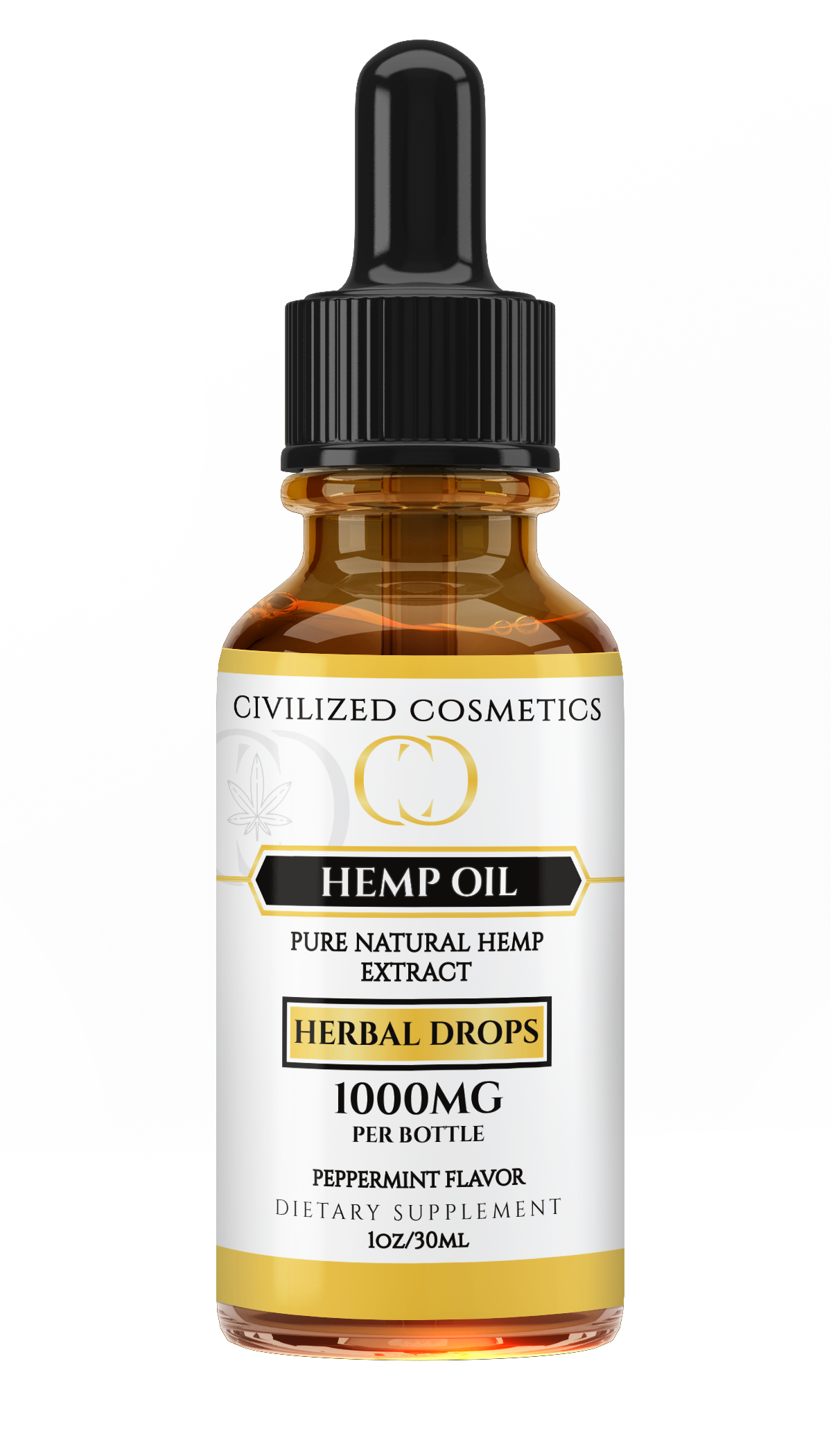 Full Spectrum Hemp Drops with Peppermint