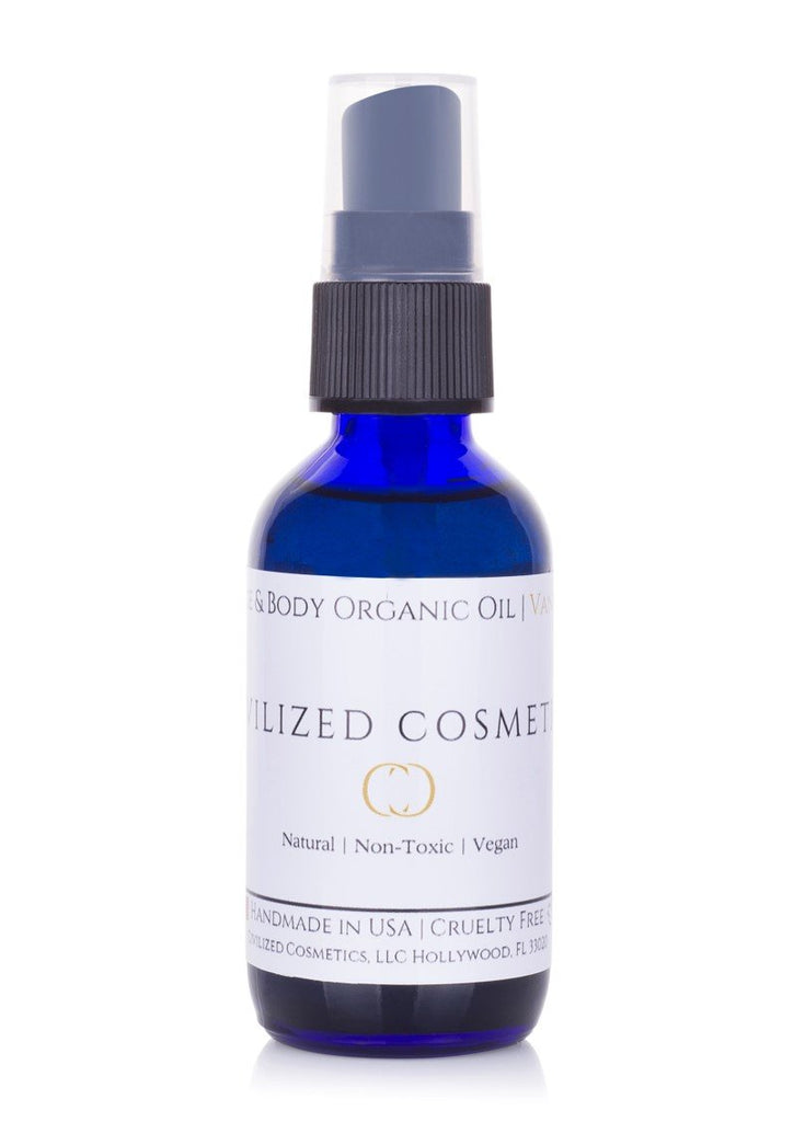 Face & Body Organic Oil - 100% Natural, Non-Toxic, Cruelty-Free