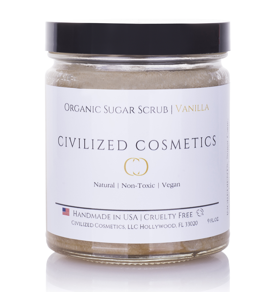 Organic Sugar Face Scrub -  Non-GMO, Natural, Cruelty-Free & Plant based