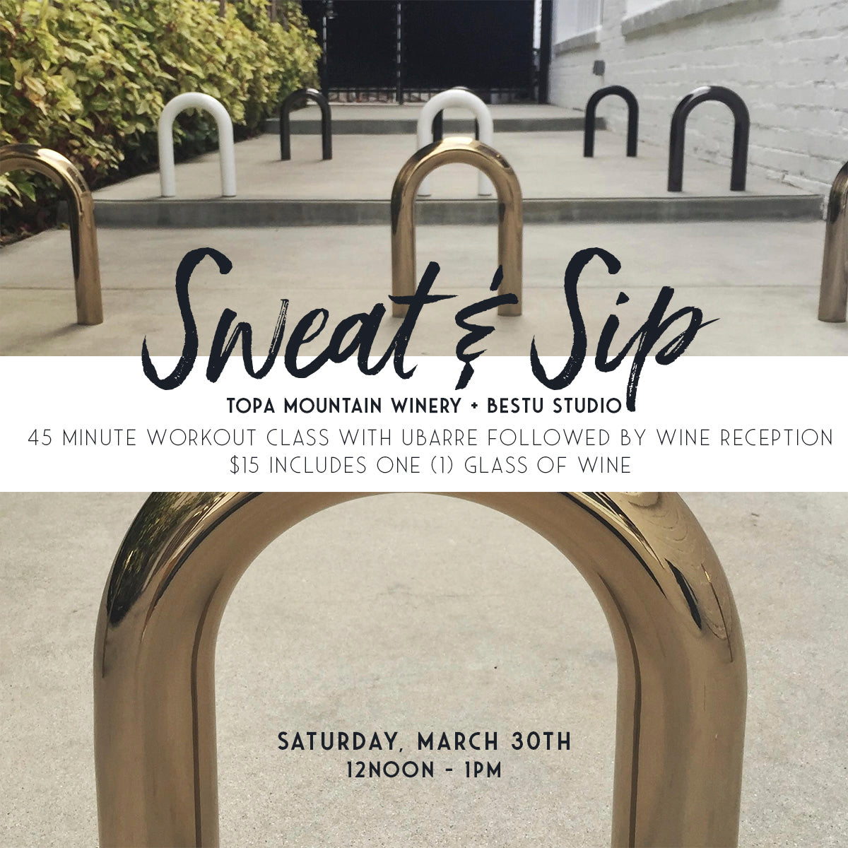 Sweat & Sip - Sat. Mar. 30th