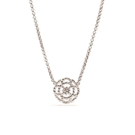 Daisy Charm Necklace with Ruby