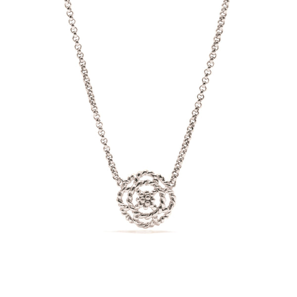 Capucine Petite Charm Necklace in Silver