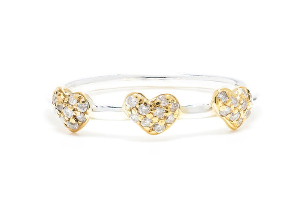 Petite Heart Pave Ring