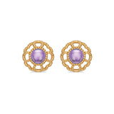 Capucine Blossom Stud Earrings with Amethyst