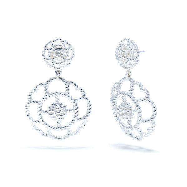 Capucine Double Earrings in Silver
