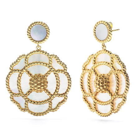 Capucine Double Earrings in Gold