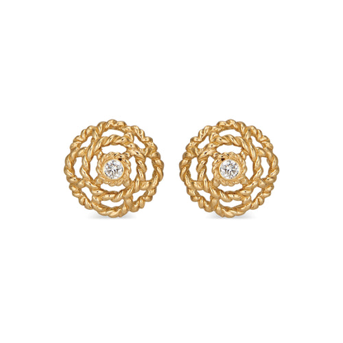 Capucine Diamond Stud Earrings