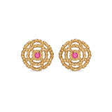 Capucine Ruby Stud Earrings