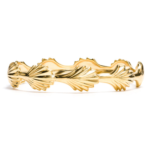 Comet Wide Bangle in Gold