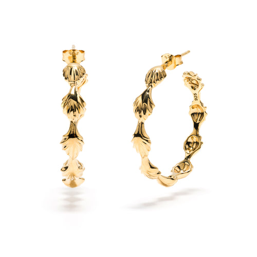 Comet Hoop Earrings in Gold