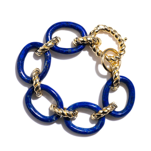 Earth Goddess Lapis Link Bracelet