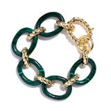 Earth Goddess Malachite Link Bracelet
