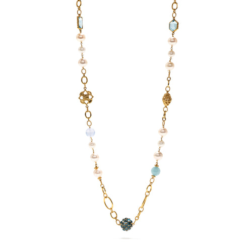 Garden Bouquet Pearl Sky Necklace 31""