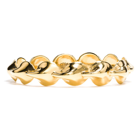 Kisses Petite Bangle in Gold