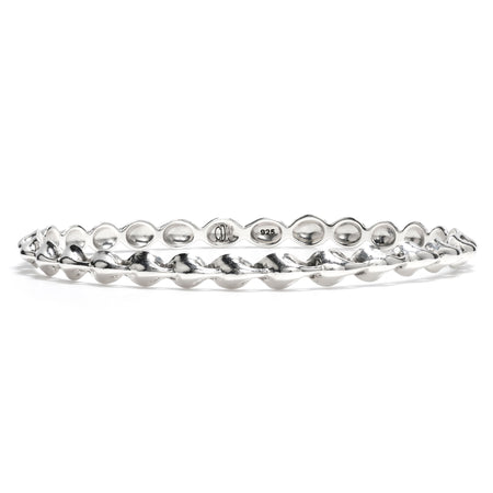 Comet Wide Bangle in Silver