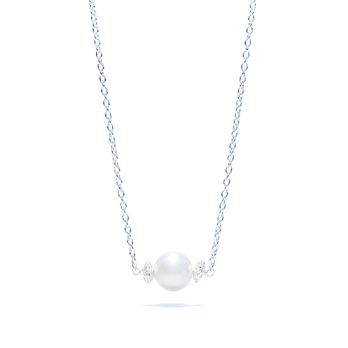 Maiden's Pearl Necklace in Silver