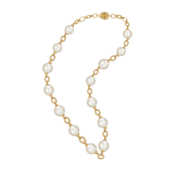 Matriarch Pearl Chain Necklace, 12mm