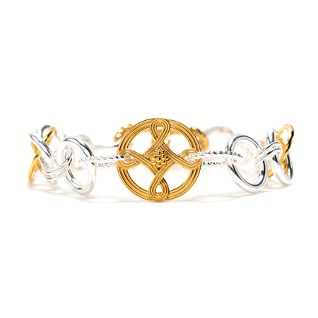 Monique Hinged Bangle, Mother of Pearl