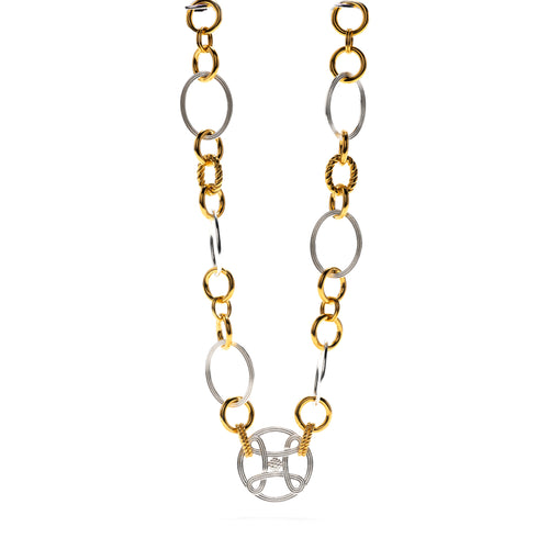 "Monique Chain 18"" Necklace, Gold/Silver"
