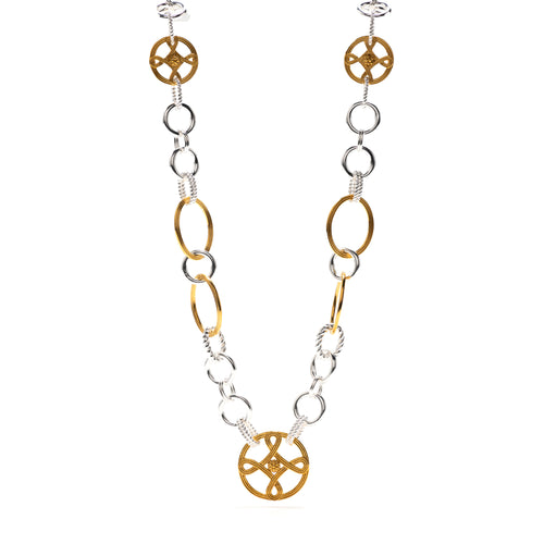 "Monique Chain 32"" Necklace, Gold/Silver"