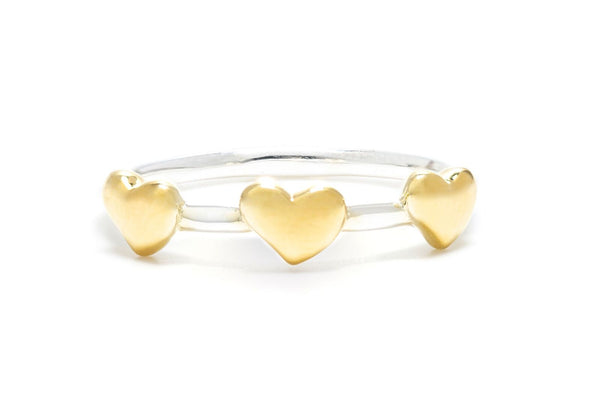 Petite Heart Ring in Gold