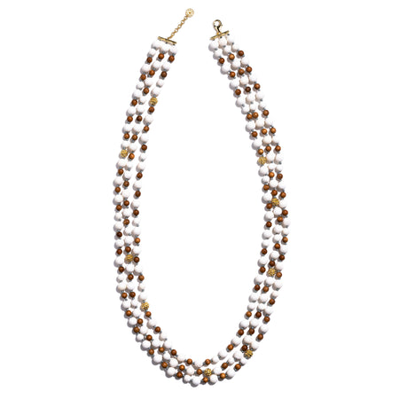 Garden Bouquet Pearl Sky Necklace 18""