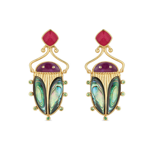 Sacred Scarab Earrings