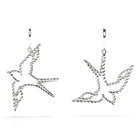 Monique Chain Hoop Earrings in Silver