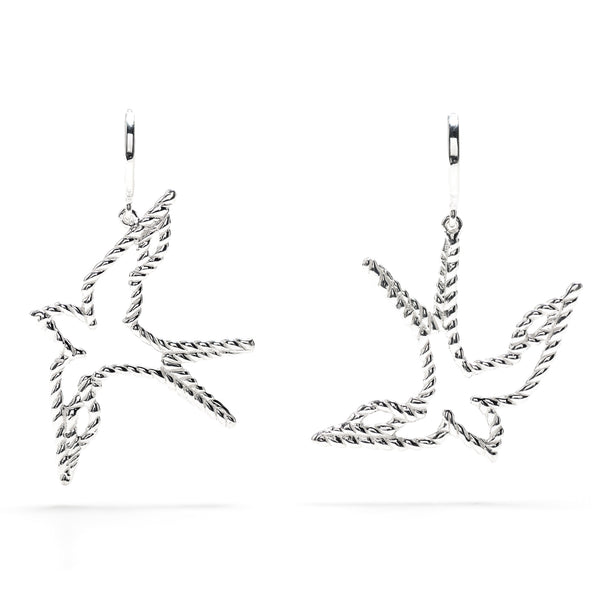 Songbird Petite Earrings in Silver