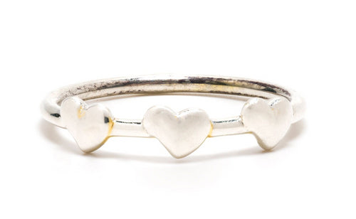 Petite Heart Ring in Silver