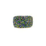 Treasure Band with Blue Sapphire & Tsavorite