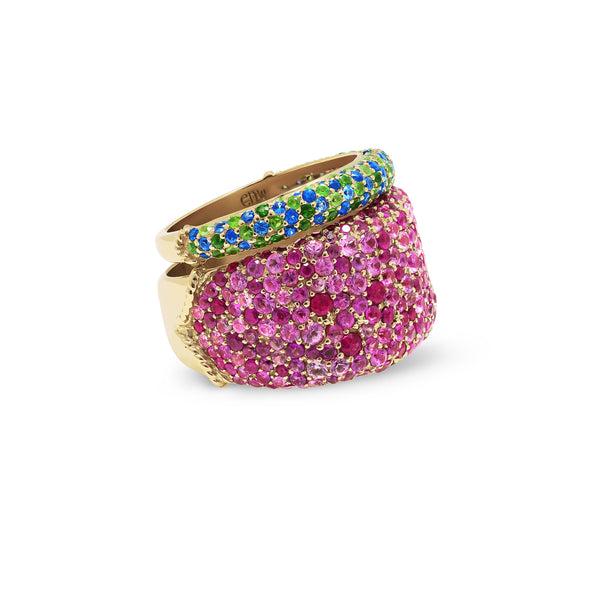Treasure Band with Pink Sapphire & Ruby